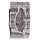 EFORCASE® Tribal Feather 3D Painted Lanyard PU Phone Case for Huawei P9lite
