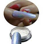1 Bottle Nail Blue Glitter Highlight Shining Symphony Chameleon Mirror Powder And 1 pcs Brush Makeup Nail Beauty NC357