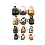 Beadia 50Pcs 7x11mm CCB Plastic End Caps Crimp Beads Covers Gold &Gunmetal&Rhodium Plated(5mm Hole)