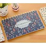 Students Program Book Small Fresh Floral Notepad