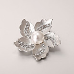 European and American fashion zircon Pearl Brooch Series 007