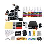 equipamentos iniciantes cor bobina kit máquina de tatuagem mini-poder (punho cor entrega aleatória)