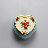 Flores del corazón de moldes de chocolate de silicona, moldes para pasteles, moldes de jabón, herramientas de decoración para hornear