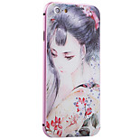 Classical Beauty Pattern Metal Frame PC painted  Hard Case for iPhone6/6s/6 Plus/6s Plus
