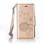 PU Leather Material Dandelion Pattern The Drill Phone Case for Huawei P9 Lite/P9