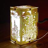 nous branchons papier créatif conduit sculpture 3d décoration nuit noël lac lumière ouest