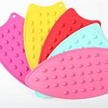 Candy Colored Thick Cellular Silicone Mat Slip Mat Mat Heat Insulation Mat Table Mat A-41 5Pcs