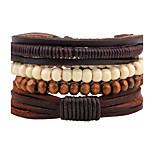 Men's Fashion Leather Strand Bracelet