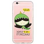 de volta Ultra Fino / Translúcido Desenhos Animados TPU Macio Ultra-thin Translucent Soft Back Cover Case Capa Para AppleiPhone 6s Plus/6
