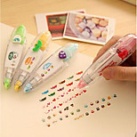 Korean Version Of The Creative Push Cute Lace Modified With Correction Tape Diary Essential