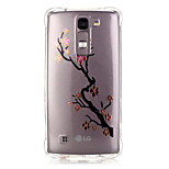 de volta Transparentes / Estampa Lace Impressão TPU Macio Bronzing Case Capa Para LG LG K10 / LG K8 / LG K7