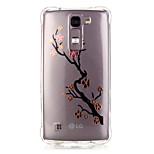 espalda Transparentes / Diseño Impresión de encaje TPU Suave Bronzing Cubierta del caso para LG LG K10 / LG K8 / LG K7