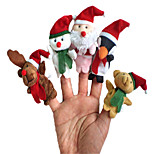 The Lovely Cartoon Characters Christmas Story Finger Puppets Children's Day Counseling