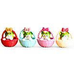 Moss Micro Landscape Jewelry Round Bottom Basket Cat Doll DIY Toy Ornaments 4 A Set