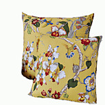 Cartoon Style Cotton Pillow Cover 1pc(Random Color)