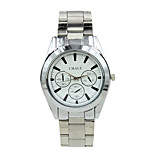 Quartz Steel Business Casual Men's  Alloy Three Time Zones Mechanical Watches