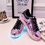 2016 New Women's Fashion LED Shoes Comfort Breathable / Party& Casual Shoes Black / White