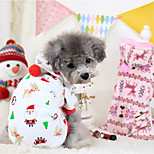 Hunde Kapuzenshirts Weiss / Purpur Winter Weihnachten Lässig/Alltäglich
