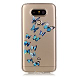 Hollow High Permeability Blue Butterfly Pattern TPU Soft Case Phone Case For LG G5/K5