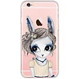 indietro Ultrasottile / Traslucido Fantasia animale TPU Morbido Ultra-thin Translucent Soft Back Cover Copertura di caso per AppleiPhone
