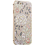 Engraving Flower Pattern Metal Frame PC painted  Hard Case for iPhone6/6s/6 Plus/6s Plus