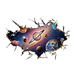 3D Wall Stickers Wall Decals Style Space Universe PVC Wall Stickers
