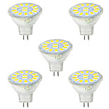 5W GU4(MR11) Luces Decorativas MR11 15 SMD 5730 480LM lm Blanco Cálido / Blanco Fresco Decorativa 09.30 V 5 piezas