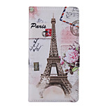 Eiffel Tower Pattern PU Leather Full Body Case with Stand and Card Slot for Huawei Ascend P9 Lite/P8 Lite