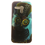 Owl Painting Pattern TPU Soft Case for Motorola Moto G XT1028/XT1031/XT1032