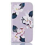 Gray Lily Pattern Card Phone Holster for Moto G4/G4 Plus
