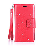 For Lenovo Vibe C / A2020 Luxury Retro Butterfly Diamonds embossed wallet Phone Cover With Stand Card Holder
