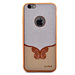 Butterfly Pattern Plating TPU Soft Case Phone Case for iPhone 6/6S