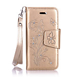PU Leather Material Butterfly Pattern The Drill Phone Case for  iPhone 6s Plus / 6 Plus/6S/6
