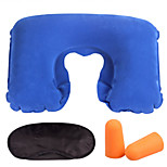 Travel Three Pieces Eye Mask , Flight Sleeping Pillow and Ear Plugs