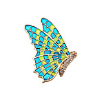 Fashion Women Elegant Enamel Butterfly Metal Brooch