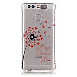 Red Dandelion Rhinestone Drop Resistance Calls Flashing TPU Soft Case Phone Case for Huawei P9/Huawei Honor 5X