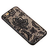 Body collant Pare-chocs / Translucide Impression de dentelle PC Dur Skeleton,Lacework Couverture de cas pour AppleiPhone 6s Plus/6 Plus /