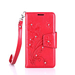 For Lenovo A2010 Luxury Retro Butterfly Diamonds embossed wallet Phone Cover With Stand Card Holder