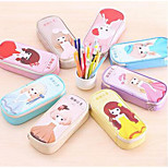 Lb03 Sweet Princess Pu Capacity Pencil Case Pencil South Korean Stationery Simple Girl