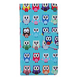Owl Pattern PU Leather Full Body Case with Stand and Card Slot for Huawei Ascend P9 Lite/P8 Lite