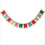 Christmas Decoration Pentagon Cotton Flag Kids Birthday Banners