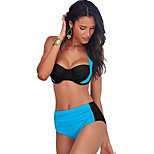 Women's Swimwear Quick Dry / Compression Bikinis AdjustableWhite / Pink / Black / Blue / Dark Blue