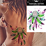 5Pcs DIY Dream Catcher Feather Decal Women Body Art Waterproof Tattoo Stickers