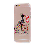 Kinston® Printed Bicycle Girls Pattern TPU Soft Protective Case Cover for iPhone 6/6S/6 Plus/6S Plus