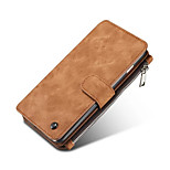 Genuine Leather Cover Multi-functional Cards Holder Wallet Case For Apple iPhone 5/5S/SE (Assorted Colors)