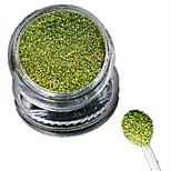 1 Bottle Nail Art Laser Light Green Glitter Shining Powder Manicure Makeup Decoration Nail Beauty L07