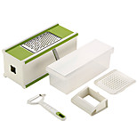 Oak®Multifunctional Vegetable Shredder Cutter Creative Kitchen Gadget / Easy Cut Plastic Kitchen Tool 5 Set of
