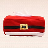 1pc Red Christmas Tissue Box Clothing Cover Decoration Paper Napkins Holder for Home Party Supplies