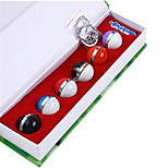 6 Poke Ball + 1 Keychain + 1 Necklace in a Set Pocket Little Monster