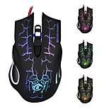 USB Wired Optical Gaming Mouse/Mice 5500 DPI Adjustable with Colorful LED backlit for PC Computer